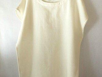 手織り木綿使用のフレンチスリーブのブラウス(1)の画像