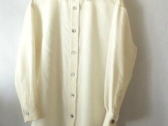 手織り木綿使用・着丈81cmと長いシャツの画像