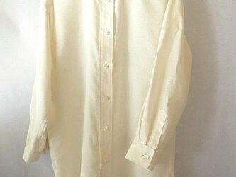 手織り木綿使用・ロングシャツ・高瀬貝の画像