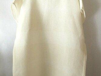 手織り木綿使用のフレンチスリーブのブラウス(2)の画像