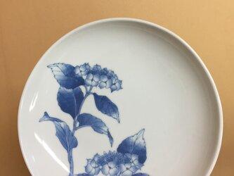 山紫陽花(青)のお皿の画像