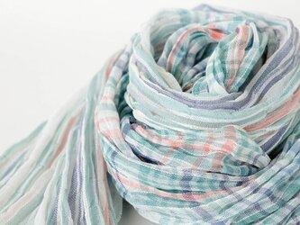 手織りリネンストール【流風*01】の画像