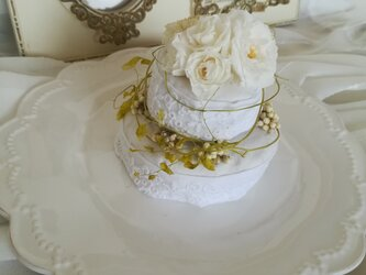flower mini  cake (wedding)の画像