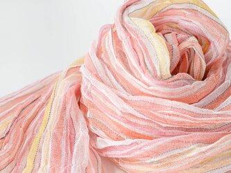 手織りリネンストール【流風*02】の画像