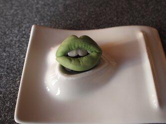 歯付きくちびるマグネットの画像
