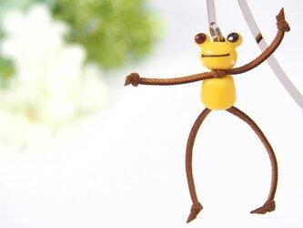 かえるのブックマーカー 黄色 全身の画像
