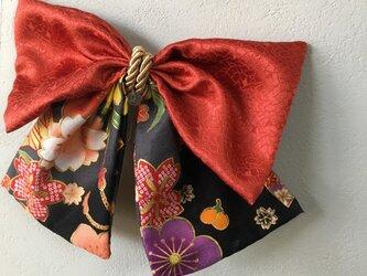 和柄布のはいからさんリボン【髪飾り】卒業式、謝恩会にの画像