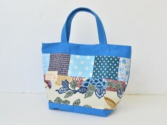 ★大人かわいい・カラフルトートバッグ(ブルー)の画像