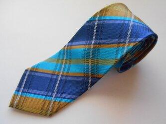 ネクタイ タータンチェック  シルク(絹)100%の画像