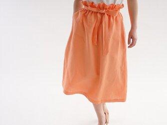お試し品! ベルギー産リネン スカート ダブルループ 紐あり ウエストゴム スカート / カピュシーヌ s010a-cpn2の画像