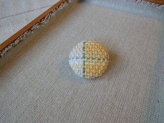 手織り ブローチ 黄色シリーズ 丸・小2の画像