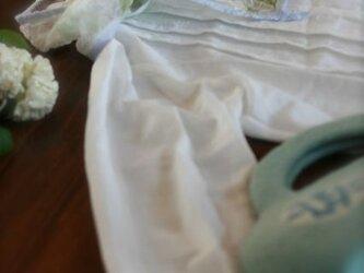 オールシーズン使える シルク&ウールのストール(ブルー系)の画像