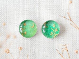 まるい耳飾り23/三日月と三つ葉の画像