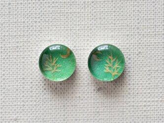 まるい耳飾り34/三日月と金の木の画像