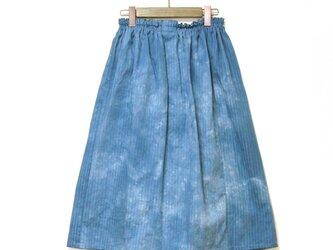 【受注販売】藍ムラ染めスカート04の画像