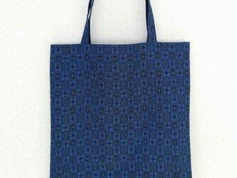 大島紬の手提げ袋の画像