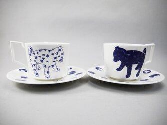 Shiba Dog Pair Tea Cup&Saucer 柴犬ティーカップ&ソーサーペアセットの画像