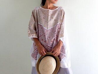 【受注製作】木版プリントで柄から作ったビッグシャツの画像