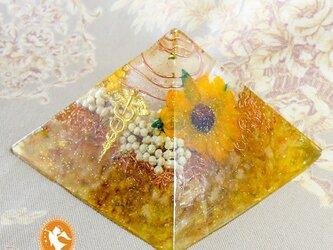 黄金のピラミッド シトリン 黄金比 オルゴナイトの画像