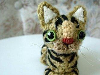 オーダーメイド猫あみぐるみの画像