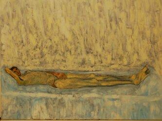 油彩 F30 真昼の光の中の裸夫 3の画像