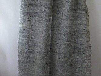 手織りの大判ストール紺色 シルク×綿の画像