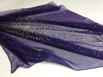 シルクスカーフ「star cluster」の画像
