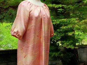 着物リメイク 正絹 ギャザーたっぷりワンピース♪ の画像