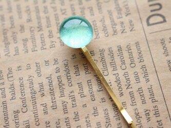 """【再販】ガラス製 ヘアピン パウダーガラスの可愛いヘアピン""""C""""の画像"""