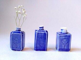 小瓶型花器(ブルー)の画像