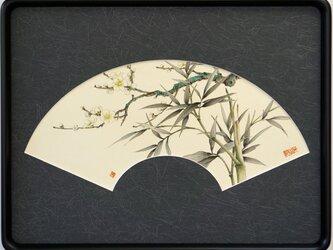 中国工筆画 竹と梅の画像
