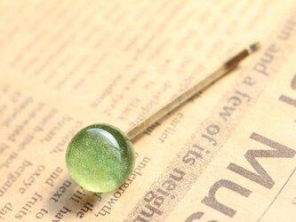 """【再販】ガラス製 ヘアピン パウダーガラスの可愛いヘアピン""""D""""の画像"""