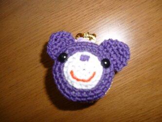 クマちゃんマカロンケース(紫)の画像