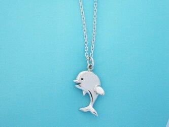 SALE!イルカの赤ちゃんシルバーペンダントの画像