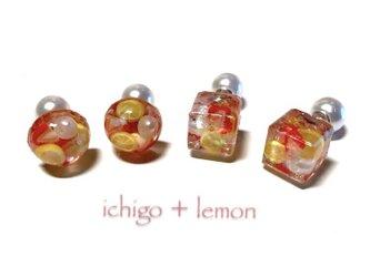 イチゴとレモン 2wayピアスの画像