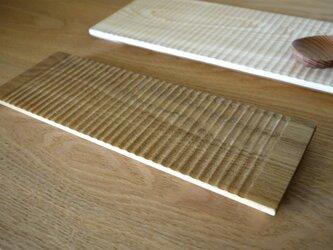 木のしのぎ平皿 キハダの画像