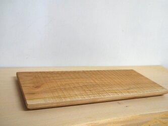 木のしのぎ平皿 チェリーの画像