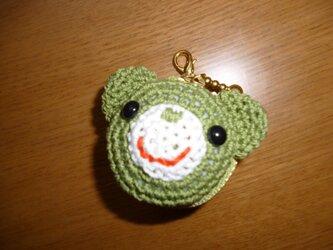 クマちゃんマカロンケース(緑)の画像