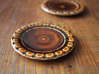 ケーキ皿 アメ色の画像