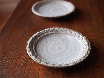 ケーキ皿 うのふ白色の画像