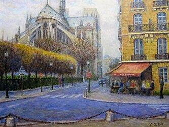 パリの街角 ノートルダム大聖堂の画像