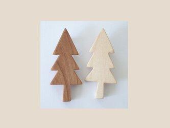 ブローチ もみの木(2個セット)  の画像