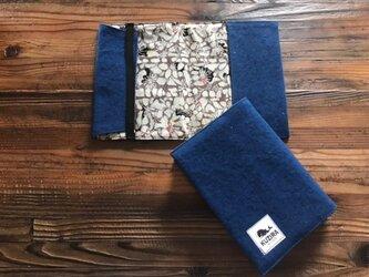 藍染めブックカバーの画像