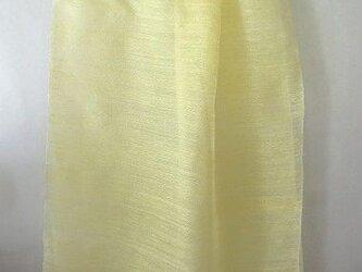 手織りシルクストール クチナシの実染めの画像