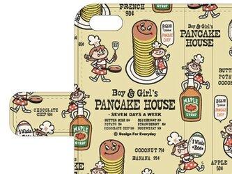 Boy & Girl'sパンケーキ ハウス iPhone6/6s  iPhone7手帳型ケース【受注生産品】の画像