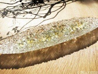 ガラスのアクセサリートレイ -「 灯りのタネ 」 ● 緑・28cmの画像