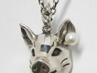豚に真珠 NECKLACE(大)の画像