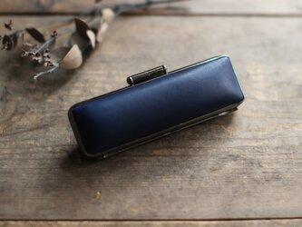 藍染革[migaki] 15mm径 印鑑ケースの画像