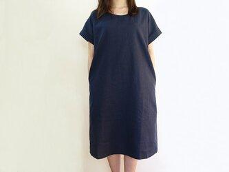 Cotton, linenコットンリネンワンピース<ネイビー>の画像