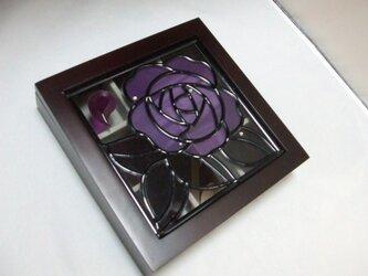 アクセサリーケース(紫薔薇)の画像